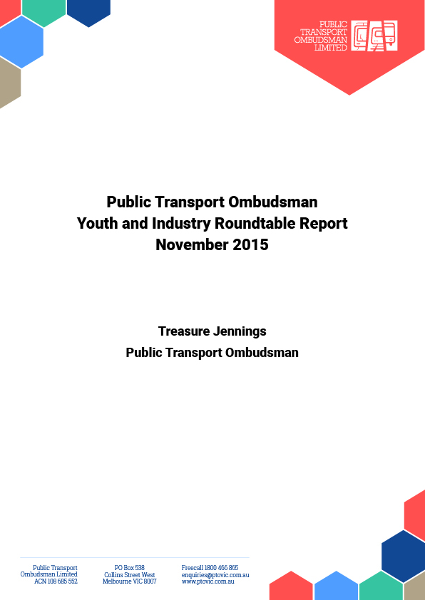 PTO Youth Roundtable 2015 Cover